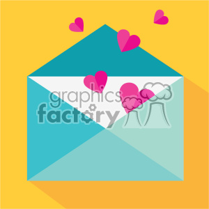 love letter envelope with hearts vector icon art clipart. Commercial use image # 402290
