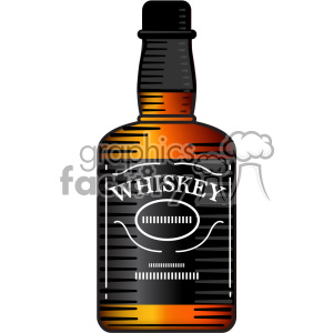 vector whiskey bottle image clipart. Royalty-free image # 402300