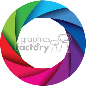 vector camera shutter colorful shaded design no border icon clipart. Commercial use image # 402358