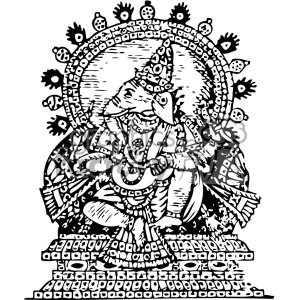 Ganesha god of success vintage 1900 vector art GF clipart. Royalty-free image # 402418