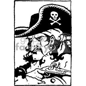 vintage retro old black+white pirate pirates sea+creature tattoo