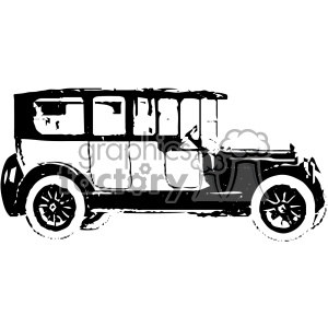 old vintage distressed limousine car retro vector design vintage 1900 vector art GF clipart. Royalty-free image # 402553