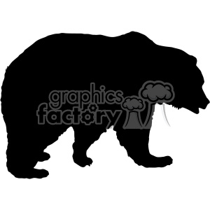 bear silhouette vector svg cut files clipart. Commercial use image # 402613
