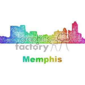 city skyline vector clipart USA Memphis clipart. Royalty-free icon # 402668