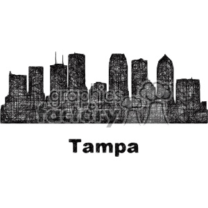 black and white city skyline vector clipart USA Tampa clipart. Commercial use image # 402678