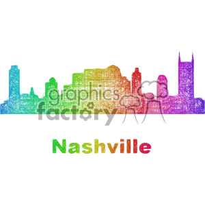 city skyline vector clipart USA Nashville clipart. Commercial use image # 402688