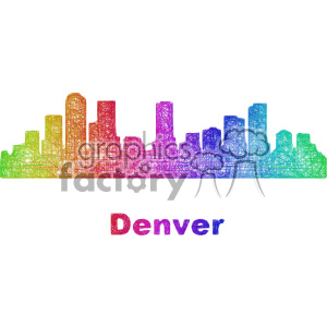 city skyline vector clipart USA Denver clipart. Commercial use image # 402738