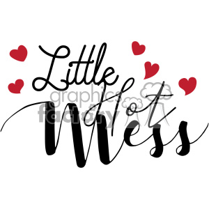 little hot mess svg cut file clipart. Royalty-free image # 403020