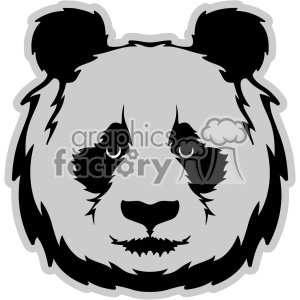 panda head svg cut file with base clipart. Royalty-free image # 403030