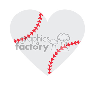love baseball heart design svg cut file vector