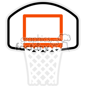 basketball net svg cut file clipart. Royalty-free image # 403050