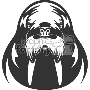 animal mascot logo walrus