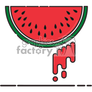 Watermelon flat vector icon design clipart. Commercial use image # 403170