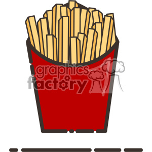 French fries flat vector icon design
