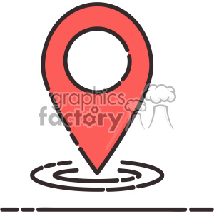 Geolocator flat vector icon design clipart. Commercial use image # 403200