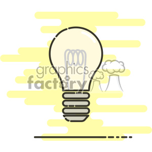 Lightbulb flat vector icon design clipart. Royalty-free image # 403210