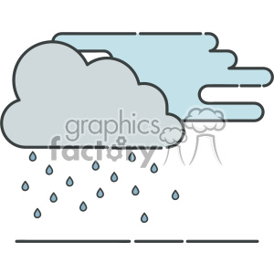 Rainy flat vector icon design clipart. Royalty-free image # 403220