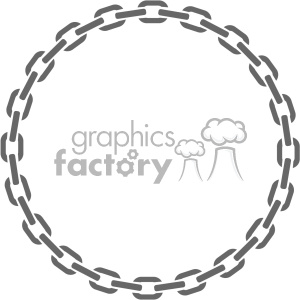 circle chain frame vector clipart. Royalty-free image # 403251