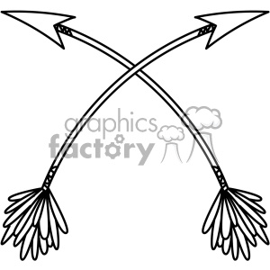 crossed bent arrow vector design 11 clipart. Royalty-free image # 403261