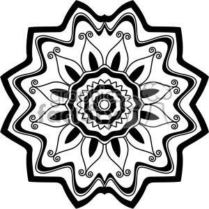 mandala geometric vector design 018 clipart. Royalty-free image # 403271