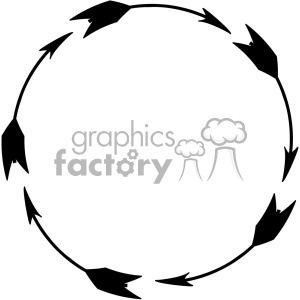 circle black arrow design vector art