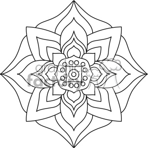 mandala geometric vector design 008 clipart. Commercial use image # 403311