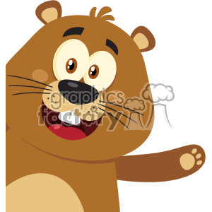 10635 Royalty Free RF Clipart Cute Marmot Cartoon Mascot Character Waving From Corner Vector Flat Design clipart. Commercial use image # 403463