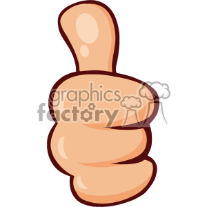 10686 Royalty Free RF Clipart Cartoon Hand Giving Thumbs Up Gesture Vector Illustration clipart. Commercial use image # 403498