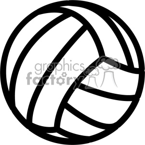 volleyball outline svg cut file clipart. Royalty-free image # 403742