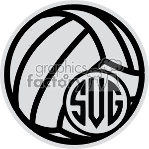 volleyball monogram svg cut file