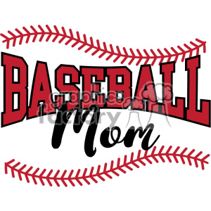 baseball mom svg cut file clipart. Commercial use image # 403744