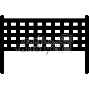 cut+files volleyball net black+white vinyl+ready