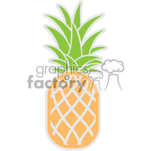 pineapple svg cut file clipart. Royalty-free image # 403748