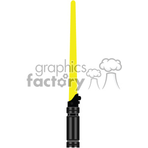 yellow light saber sword cut file vector art clipart. Royalty-free image # 403749