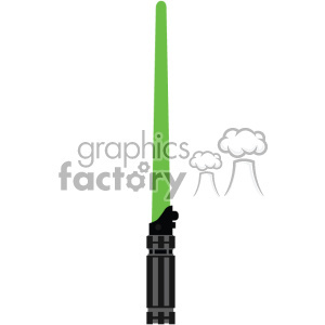 green light saber sword cut file vector art clipart. Royalty-free image # 403751