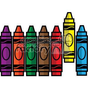 crayon set svg cut file vector icon clipart. Royalty-free image # 403752
