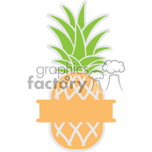 pineapple svg cut file vector