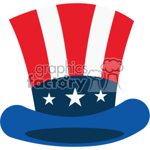 4th of july uncle sam hat vector icon