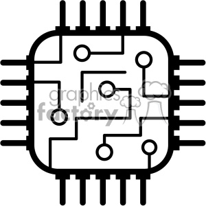 computer micro processor icon clipart. Commercial use image # 403826