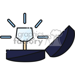 Ring box vector clip art images clipart. Commercial use image # 403869
