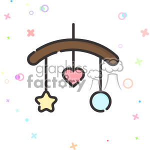 Baby mobile clip art vector images