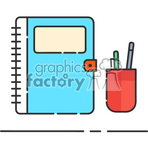 Book and pen clip art vector images