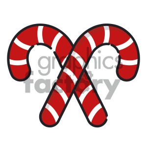 candy cane cartoon vector icon clipart. Commercial use image # 403988