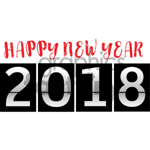 2018 count down clipart. Royalty-free image # 404006