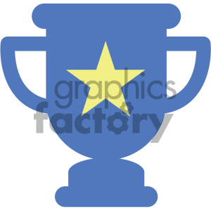 trophy star vector icon clipart. Royalty-free image # 404036