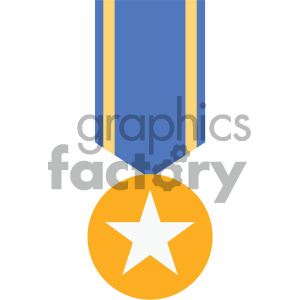 ribbon award medal vector icon clipart. Commercial use image # 404056