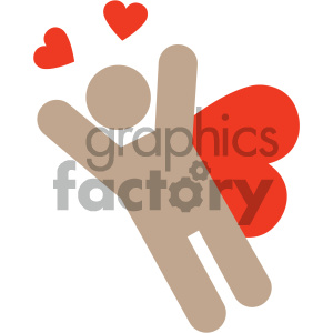 superman valentines vector icon clipart. Royalty-free image # 404073