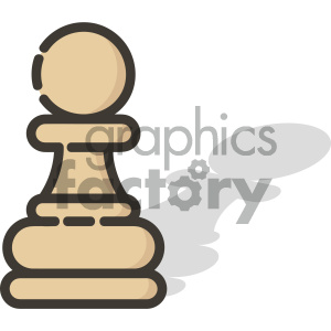 Pawn chess piece vector art clipart. Royalty-free image # 404098