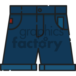 blue shorts vector art clipart. Royalty-free image # 404126