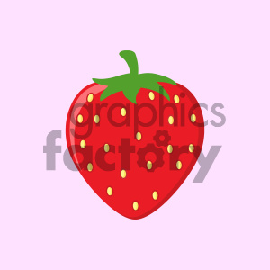cartoon food mascot character vector happy fruit strawberry
